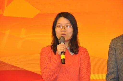 2013年1月23日,2012年度国内十大科技新闻入选单位代表新华社记者胡浩发言。