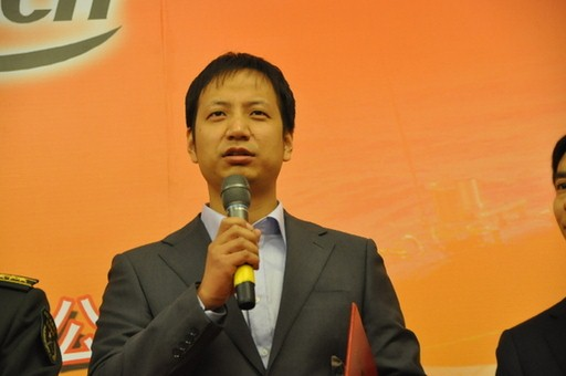 2013年1月23日,2012年度国内十大科技新闻入选单位代表神舟九号载人飞船系统副总设计师马晓兵发言。
