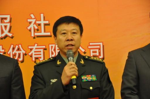 2013年1月23日,2012年度国内十大科技新闻入选单位代表神九航天员刘旺发言。