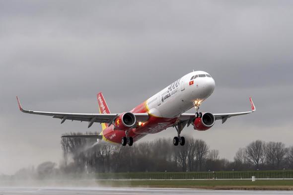 2015年3月21日,越南vietjet航空公司接收的第一架a321飞机从德国汉堡