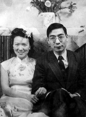 年轻时的郭永怀和李佩。(资料图)