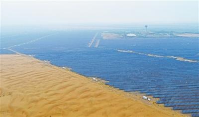 """沙漠里崛起太阳能""""硅谷"""""""