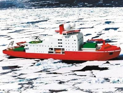 """中国""""雪龙号""""极地科考船。"""