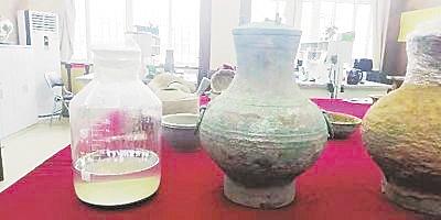 两千年前  大雁灯与美酒彰显墓主奢华生活