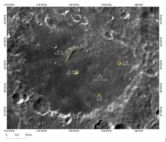 """月球又添5个""""中国地名"""":嫦娥四号着陆点命名为天河基地"""