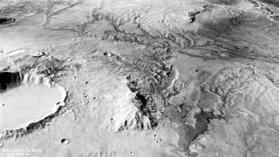 """""""火星快车""""拍摄证明红色星球曾更温暖湿润"""