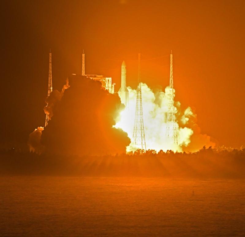 加油中国!长征五号遥三运载火箭发射圆满成功