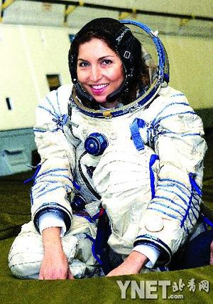 世界首位女太空游客成功飞天图片