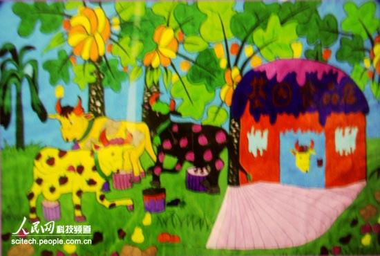 馆展出,孩子们用一幅幅五彩斑斓的图画畅想著未来的世界.