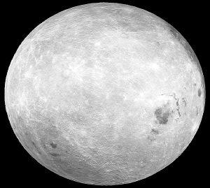 全月球三维立体图