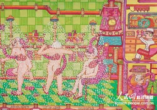 """科幻画作品展厅,一幅幅色彩艳丽且极具创意儿童画"""""""