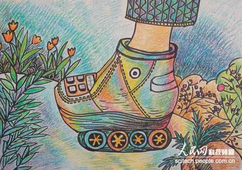组图:孩子眼里的科幻世界 惊艳画展亮相广州第25届图片